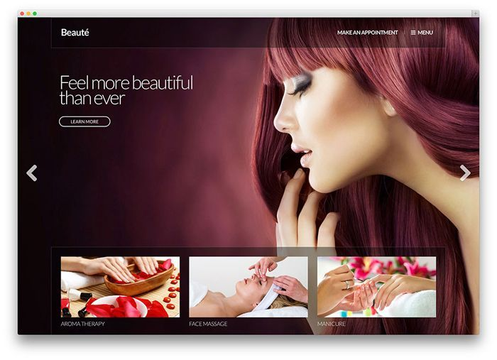beaute wordpress spa theme